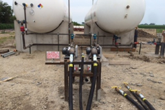 ammonia and propane tanks and fixtures