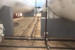 safe ammonia tank installation