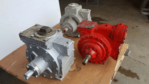 image of red and gray ammonia/LP pumps